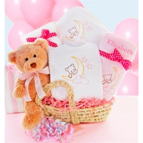 Beary Special Arrival Moses Basket-Girl