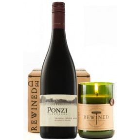 90 Point Pinot Noir & Rewined Candle Gift Set