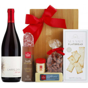 92 Point Pinot Noir Wine & Cheese Board Gift Set