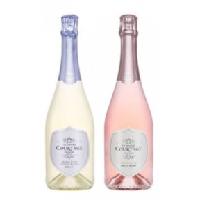 Le Grand Courtage Rose & Blanc De Blancs Bruts (Includes 2 Gift Bags)