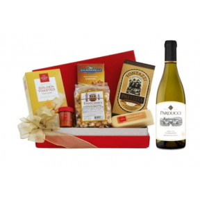 Chardonnay & Tempting Treats Gift Basket