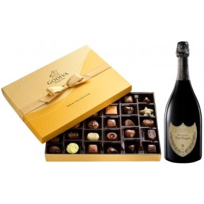 Dom Perignon And Godiva Gift Set, 36 Pc