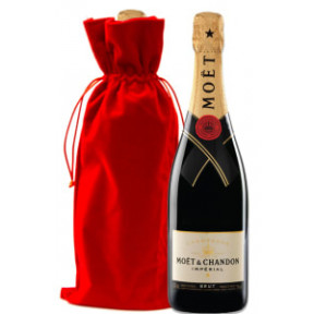 Moet & Chandon Imperial With Red Velvet Gift Bag
