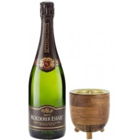 93 Point Roederer Estate Brut & Champagne Candle Gift Set