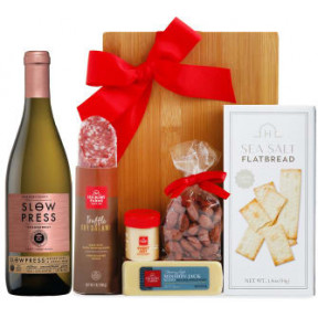 White Wine & Cheese Board Gift Set