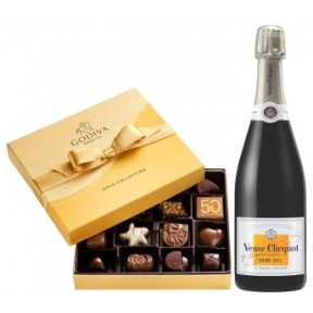Veuve Clicquot Demi-Sec & Godiva Chocolates Gift Set