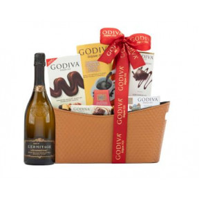 95 Point Roederer L'Ermitage & Gourmet Chocolates Gift Basket
