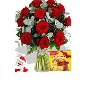 12 Roses And Pannetone