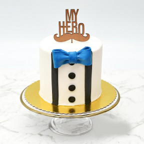 My Hero Gents Suit Cake
