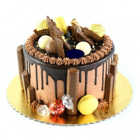 Lindt Celebration Chocolate Drip Messy Cake