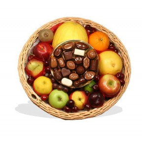 Fruit Basket With Continental Chocolates
