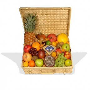 Luxury Fruit Hamper With Cheese And Oatcakes