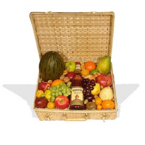 Fruit Hamper With French Brandy