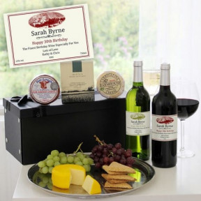 Personalised Fine Wine & Gourmet Cheese Hamper