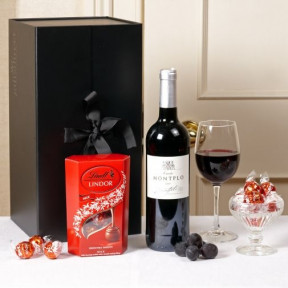 Fine Wine & Delicious Lindt Chocolates