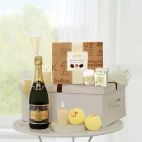 Pampering Treat Box with Champagne