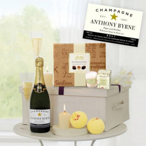 Pampering Treat Box with Personalised Champagne