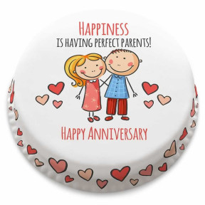 Anniversary Couple Cake (Small Party Cake (Serves 10-12) )