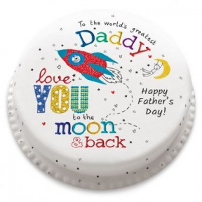 Love You To The Moon And Back Cake (Small Party Cake (Serves 10-12) )
