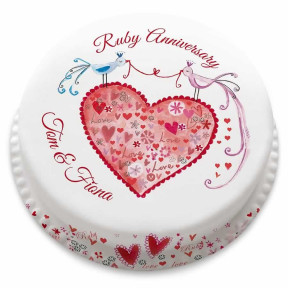Ruby Anniversary Cake (Small Party Cake (Serves 10-12) )