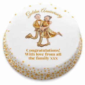 Golden Couple Cake (Small Party Cake (Serves 10-12) )