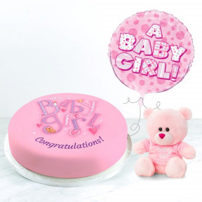 It'S A Baby Girl Gift Set (Small Cake Set (S) Serves 10 )