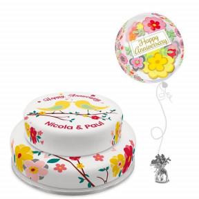 Anniversary Birds Gift Set (Single Tier (Serves 10) )