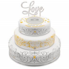 Anniversary Tiered Photo Cake (Single Tier (P) Serves 10 )