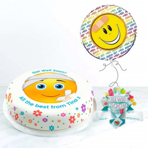 Get Well Emoji Gift Set (Small Cake Set (S) Serves 10 )