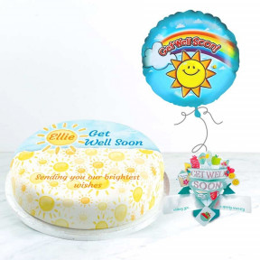 Summer Get Well Gift Set (Small Cake Set (S) Serves 10 )