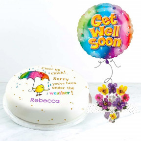 Rainbow Get Well Gift Set (Small Cake Set (S) Serves 10)