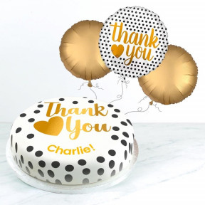 Golden Thank You Gift Set (Small Cake Set (S) Serves 10 )