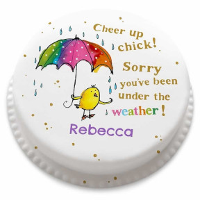 Cheer Up Chick Cake (Small Party Cake (Serves 10-12) )