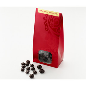 Dark Chocolate Rolled Coffee Beans