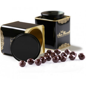 Tin of Coffee Beans in Dark