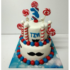 Barbershop Cake (Six inch on Eight inch )