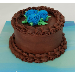 Chocolate Frosted Birthday Cake (Six inch )