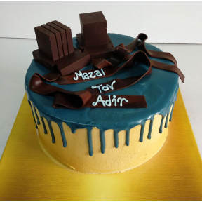 Blue Drip Tefillin Cake (Eight inch )