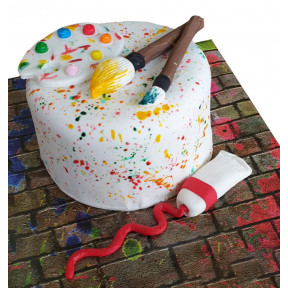 Artist Palette Cake (Eight inch )