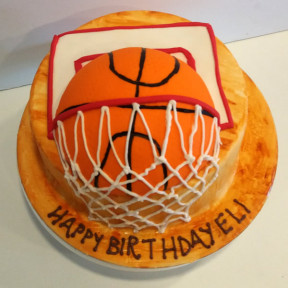 Basketball Hoop Cake (Eight inch )