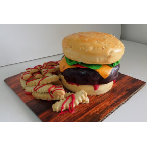 Burger Cake (Eight inch )