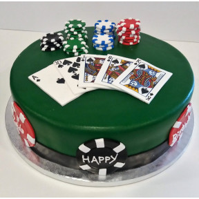 Cards Anyone? Cake (Eight inch )