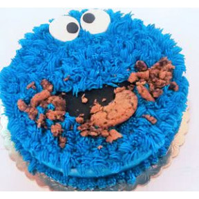 Cookie Monster Cake (Eight inch )