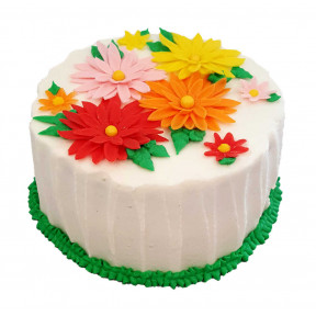 Flower Cake (Eight inch )