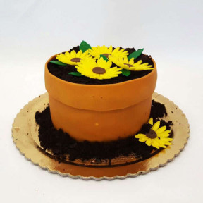 Flower Pot Cake (Eight inch )