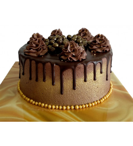Dripping In Gold Cake (Six inch )