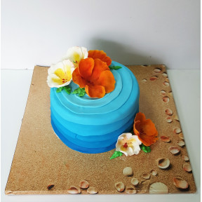 Hawaiian Flower Cake (Eight inch )