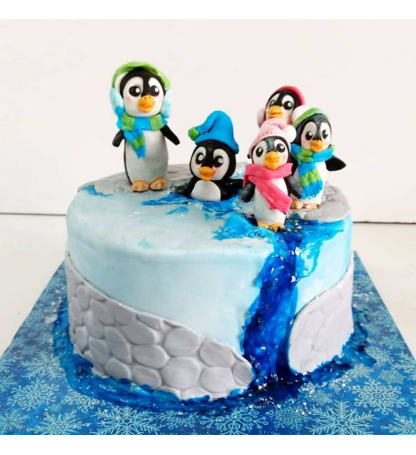 Penguin Cake (Eight inch )