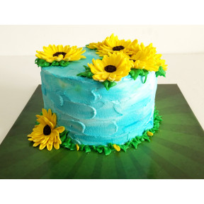 Sunflower Cake (Six inch )
