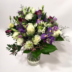 Violet dream- white roses, lilac irises etc (Classic)